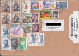 Réunion Lettre 2015 Avec Divers Timbres De FRANCE Maury N°2575 - Reunion Island (1852-1975)