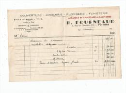 Facture , Zinguerie , Plomberie , R. FOURNEAUD , 194x , POITIERS - Non Classés