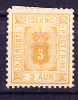 Island Iceland Islande - Dienst/Service (Mi.Nr. 3 B) 1876 - Mit Falz MH - Officials