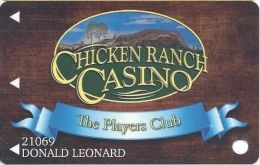 Chicken Ranch Casino Jamestown CA Slot Card - Casino Cards