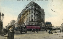 PARIS-19è Rue De Flandre Et Quai De La Seine Colorisée Animée - Arrondissement: 19