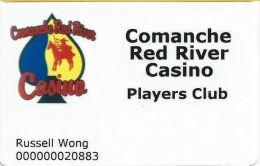 Comanche Red River Casino - Players Club Card - Oklahoma USA - Casino Cards
