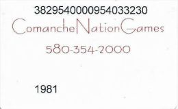 Comanche Nation Games Slot Card - Oklahoma USA - Casino Cards