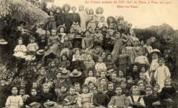PARIS-20è La Colonie Scolaire à Vire En 1907 Très Très Animée - Arrondissement: 20