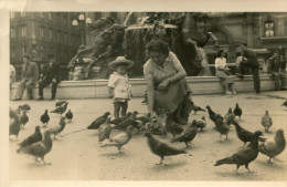 PIGEON(ENFANT) CARTE PHOTO - Pájaros