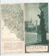 Dépliant Touristique , FLORENCE  , Ente Nazionale Industrie Turistiche , Ferrovie Dello Stato , 1934 , Plan , 2 Scans - Dépliants Turistici