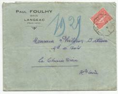 AMBULANT DE NIMES A CLERMONT 1° -E- SUR LETTRE A EN TETE DU 14/11/1928 - Marcophilie (Lettres)