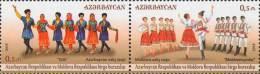 Az  1126-1127 MNH** Azerbaijan Aserbaidschan 2015 National Dance Joint Issue Moldova MI - Gemeinschaftsausgaben