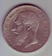 - BELGIQUE - 5 Francs Léopold II 1868 - - 1865-1909: Leopoldo II