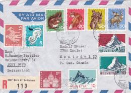 Affranchissement Pro-Juventute ( Partiel ) Sur Lettre Recommandée Oblitérée BERN Le 24.1.1967 - Pro Juventute