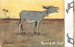 MUSIC OF TH EAST - Ane Chantant, Carte Illustrée Par Schreiender Estel; Oilette. - Anes
