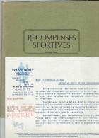 CATALOGUE 1951 RECOMPENSES SPORTIVES FRAISSE DEMEY MEDAILLE INSIGNE COUPE PLAQUETTE TROPHEE STATUETTE CEINTURE BOXE - Sports