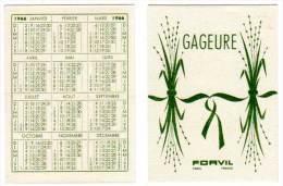 Carte Parfumée, Gageure, Forvil (calendrier 1966) - Cartes Parfumées