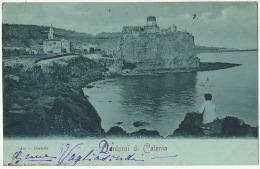 Contorni Di Catania Pionniere 1902 Randazzo Baronne Vagliasindi Del Castello à Mlle De Moroges Chateau Effiat Aigueperse - Catania