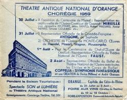 Vaucluse, Orange PP Du 16-9-1959 Avec Très Belle Publicité Devant Et Au Dos - Marcophilie (Lettres)