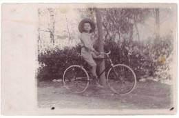 Carte Photo Cyclisme, Vélo, Enfant à Vélo ( CPH ) - Cyclisme