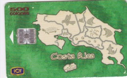 Costa Rica, CRI-C-42, Mapa De Costa Rica, 2 scans.