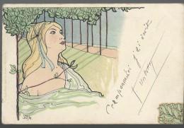 CPA - ILLUSTREE - CARL JOZSA - FEMME BLONDE - ART NOUVEAU - Otros Ilustradores