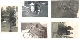 5 Cartes Photos Thème Cyclisme, Cyclistes ( CPH ) - Cyclisme