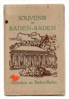 39596-ZE-ALLEMAGNE-Souvenir De BADEN-BADEN--Petit Carnet Avec Dépliant De 9 Vues - Photographie
