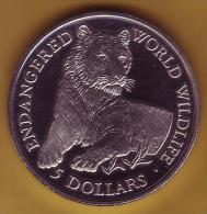 - COOK ISLANDS - 5 Dollars 1990 - Tigre - BE. Proof - - Cook