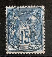 CACHET BLEU, ST GERMAIN EN LAYE, Seine Et Oise Sur SAGE. - Marcophilie (Timbres Détachés)