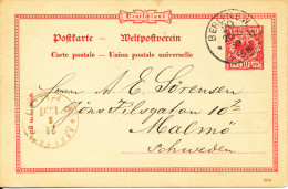 Germany Postcard Postal Stationery Berlin 20-8-1993 Sent To Sweden - Deutschland
