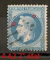 4 A2, 2° état, PLANCHAGE 20C Lauré. - 1863-1870 Napoleon III With Laurels
