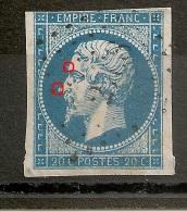 N° 14,  A PLANCHER, TACHES DEVANT LE NEZ ET LE FRONT. - 1853-1860 Napoleon III