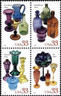 1999 USA American Glass Stamps Sc#3328a Wine Mineral - Wines & Alcohols