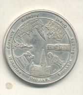 2014/1817 Vz Waterloo Brussels Bruges Ghent Antwerp - Kz Belgian Heritage Collectors Coin 2012 - Tokens Of Communes