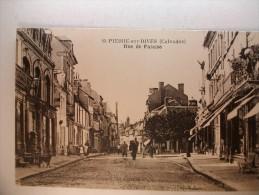 Carte Postale Saint Pierre Sur Dives Rue De Falaise (oblitérée Timbre 10 Centimes) - Non Classés