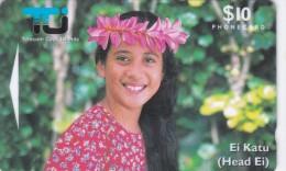 Cook Islands, COK3, $10, Ei Katu- Tipani, Woman Mint, 2 Scans. - Islas Cook