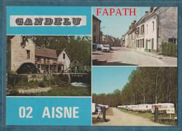 02-GANDELU-Multivues-lot De 2 Cartes- Voitures,divers Aspects- Non écrite -4 Scans- 10.5 X 15 - - Cartes Postales