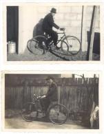 2 Photos Amateurs, Vélos, Cyclisme, Homme & Son Vélo - Cyclisme