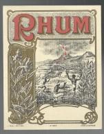 ETIQUETTE - RHUM  - TTBE - Rhum