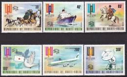 Série De 6 Timbres Neufs** Centenaire De L´U.P.U. N° 323-324-325-PA 174-175-176 (Yvert) - République De Haute-Volta 1974 - Haute-Volta (1958-1984)