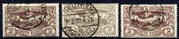 UPPER SILESIA 1920 Definitive 2 Mk. In Three Shades, Used.  Michel 27a,b,c Cat. €23.50 - Deutschland