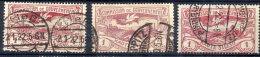 UPPER SILESIA 1920 Definitive 1 Mk. In Three Shades, Used.  Michel 26a,b,c Cat. €23 - Germany