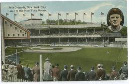 POLO Grounds New York City Home Of New York Giants (bent Corner) Sent 194 - Cricket