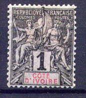 COTE D´IVOIRE - N° 1(*) - TYPE GROUPE - Côte-d'Ivoire (1892-1944)