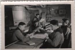 Photo originale Marine BREST  le Croiseur TOURVILLE Partie de Bridge Tranche K Tribord