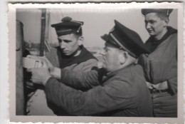 Photo originale Marine BREST  le Croiseur TOURVILLE partiel armes au canon de 40 Maitre Pastol
