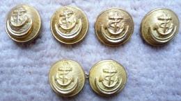 BOUTONS ( 6 ) 21 Mm Pour Uniforme D´Administrateur Des Colonies - Buttons