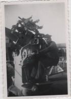 Photo originale Marine BREST  le Croiseur TOURVILLE canon DCA