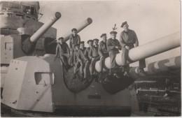Photo carte originale Marine BREST  le Croiseur TOURVILLE le groupe Trans signatures des marins