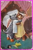 Cpa Arthur Thiele Chat Humanisé Raphael Tuck 4091 Carte Postale 1910 Cat Katze Gato - Thiele, Arthur