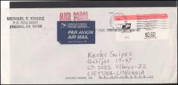 USA 068 Cover Air Mail Postal History Meter Mark Franking Machine - Postal History