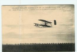 AVIATION -   Grande Semaine Aviation De La Champagne En Août 1909 : Biplan WRIGHT  - TBE - 2 Scans - ....-1914: Precursors