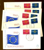 10 X Europa 1960 FDC  E45   Cote 175 Euros Dans NVPH - FDC
